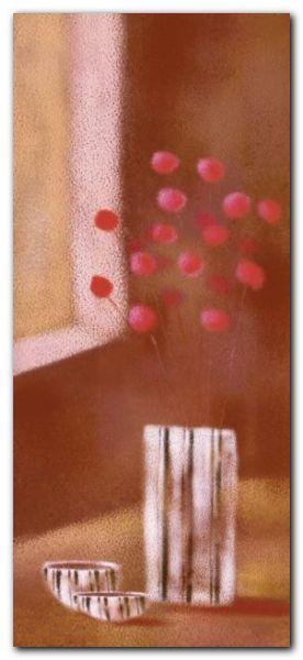 Vase Of Red Flowers plakat obraz 23x50cm