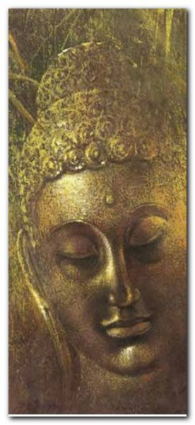 Buddah in Green II plakat obraz 23x50cm