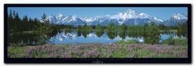 Teton RangeWyomingUsa plakat obraz 95x33cm