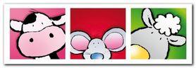 Animal Friends II plakat obraz 95x33cm