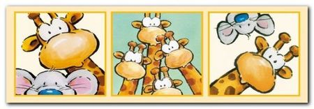 Funny Friends IV plakat obraz 95x33cm (1)