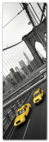 Two Yellow Cabs plakat obraz 33x95cm