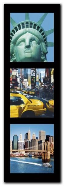 New York City II plakat obraz 33x95cm