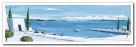 Aegean Summer I plakat obraz 95x33cm