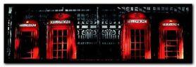 Red Telephone Boxes plakat obraz 95x33cm