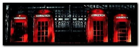Red Telephone Boxes plakat obraz 95x33cm (1)