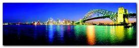 Sydney by Night plakat obraz 95x33cm