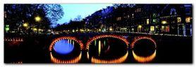 Amsterdam twilight plakat obraz 95x33cm