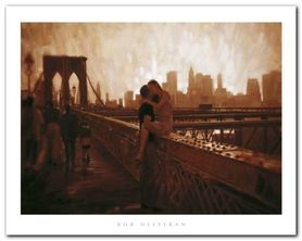 Brooklyn Bridge plakat obraz 50x40cm