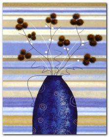 Mimosa In Blue plakat obraz 40x50cm