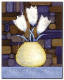 Three White Tulips plakat obraz 40x50cm