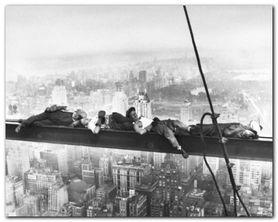 Above Manhattan plakat obraz 50x40cm