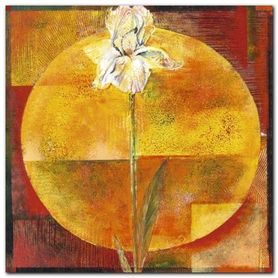 White Iris plakat obraz 50x50cm