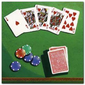 Poker plakat obraz 50x50cm