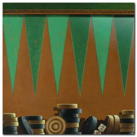 Backgammon plakat obraz 50x50cm