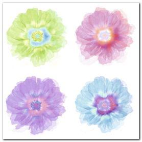 Quatre Fleurs plakat obraz 50x50cm
