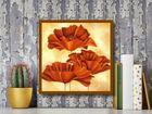 Three Poppies I plakat obraz 50x50cm (3)