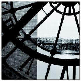 Clock Musee dOrsay II plakat obraz 50x50cm