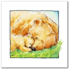 Mother Bear-S Love II plakat obraz 30x30cm