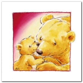 Mother Bears Love plakat obraz 30x30cm