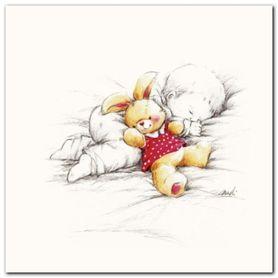 Sleepy Time I plakat obraz 30x30cm
