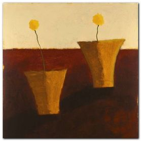 Two Yellow Flowers plakat obraz 30x30cm