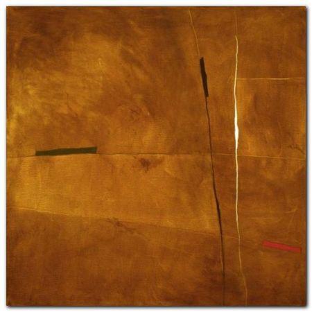 Abstract In Yellow plakat obraz 30x30cm (1)