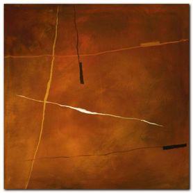 Abstract In Orange plakat obraz 30x30cm