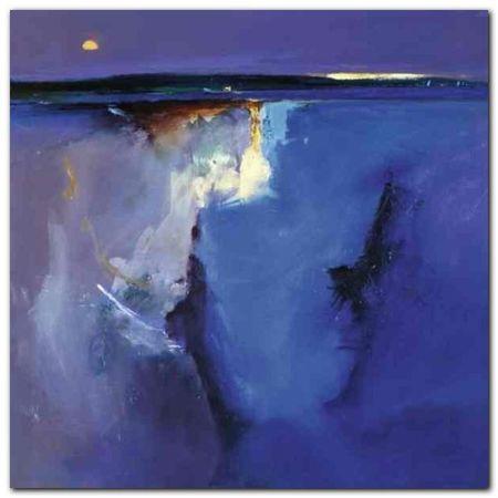 Violet Horizon plakat obraz 30x30cm (1)