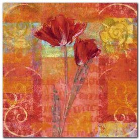Red Tulips 2 plakat obraz 30x30cm
