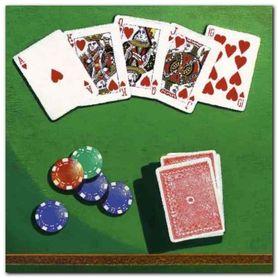 Poker plakat obraz 30x30cm