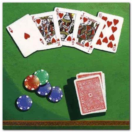 Poker plakat obraz 30x30cm (1)