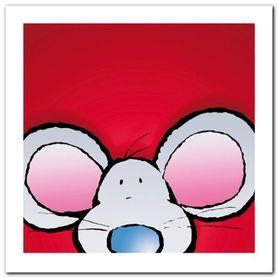 Mouse plakat obraz 30x30cm