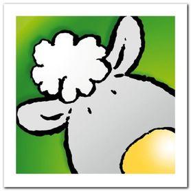Sheep plakat obraz 30x30cm