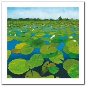 Waterlilies plakat obraz 30x30cm