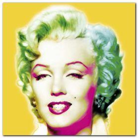 Marilyn In Yellow plakat obraz 30x30cm