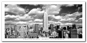 Clouds Over Manhattan plakat obraz 100x50cm