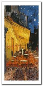 Terrasse De Cafe plakat obraz 50x100cm