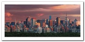 New York Skyline plakat obraz 100x50cm