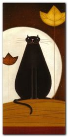 Cat And The Moon II plakat obraz 50x100cm