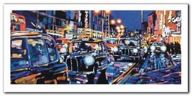 Black Cabs, London plakat obraz 100x50cm