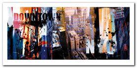 Downtown Nyc plakat obraz 100x50cm