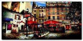 Metro Saint-Michel plakat obraz 100x50cm