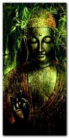 Buddah in Green I plakat obraz 50x100cm