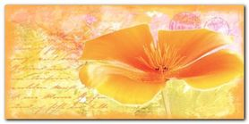 Yellow Flower plakat obraz 100x50cm