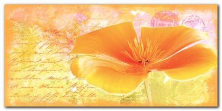 Yellow Flower plakat obraz 100x50cm (1)