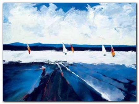 Riding The Waves plakat obraz 80x60cm (1)
