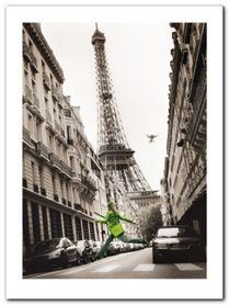 Big Jump In Paris plakat obraz 60x80cm