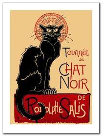 Tournee De Chat Noir plakat obraz 60x80cm
