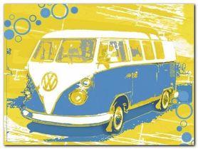 Vintage Vw Bus plakat obraz 80x60cm